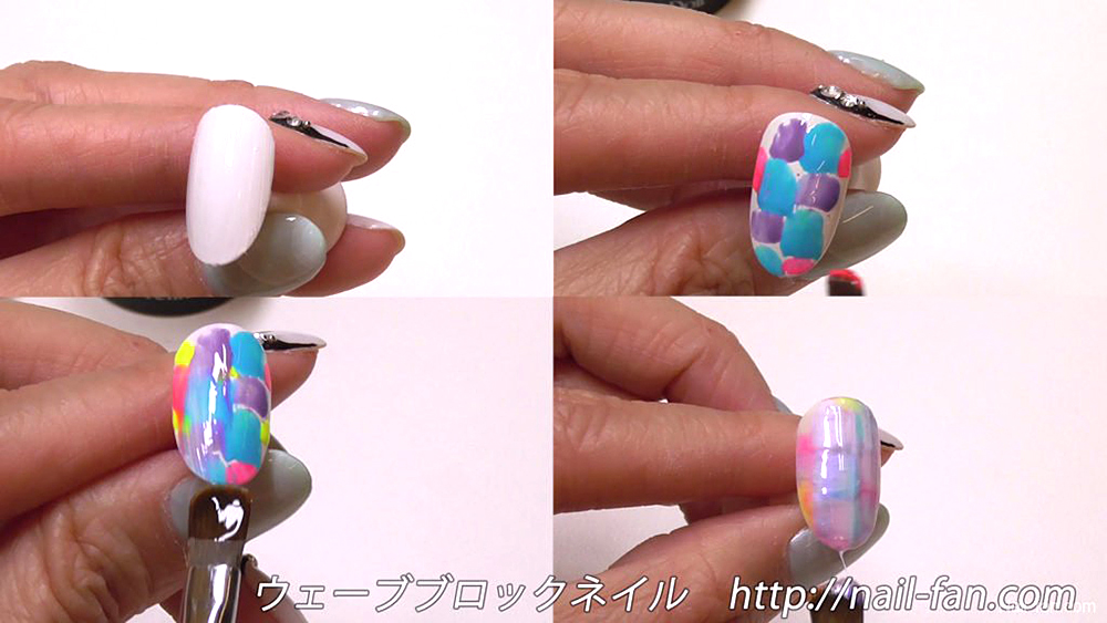 ウェーブネイルのやり方 wave-nail