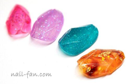宝石ネイルのやり方-プレート作成までジェルネイルアート!Jewelry nail